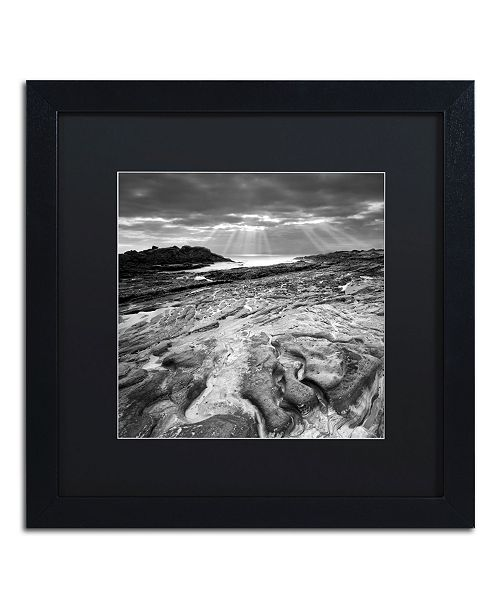 """Trademark Global Moises Levy 'Sunset at Point Lobos' Matted Framed Art - 16"""" x 16"""" x 0.5"""""""