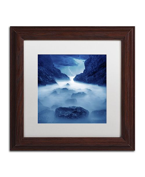 "Trademark Global Moises Levy 'Tormenta en Ixtapa Blue' Matted Framed Art - 11"" x 11"" x 0.5"""