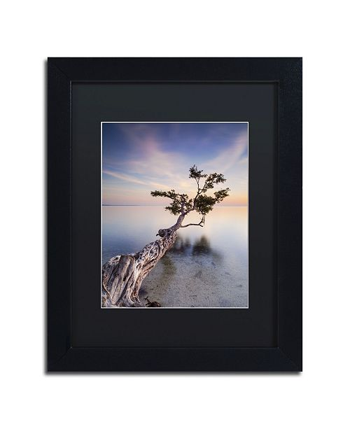 "Trademark Global Moises Levy 'Water Tree X' Matted Framed Art - 11"" x 14"" x 0.5"""