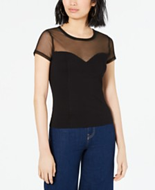 Bar III Illusion Top, Created for Macy's