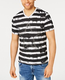 I.N.C. Men's Drippy Stripe T-Shirt, Created for Macy's