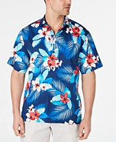 527437d8 Tommy Bahama Men's Monterosso Beach Floral-Print Silk Camp Shirt
