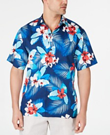 Tommy Bahama Men's Monterosso Beach Floral-Print Silk Camp Shirt