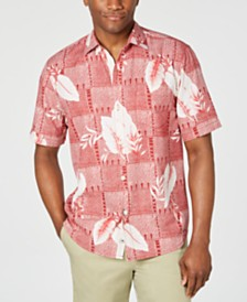 Tommy Bahama Men's Plaza Palms Geo Palm-Print Silk Camp Shirt
