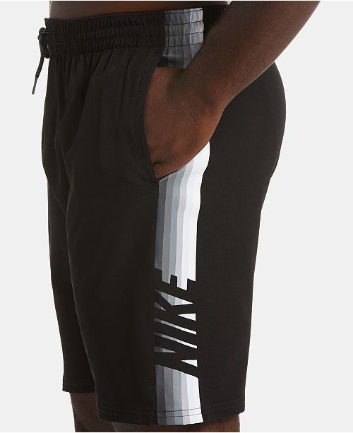 "Nike Men's Retro Stripe Stretch Water-Repellent 9"" Swim Trunks"