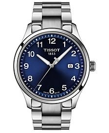 Men's Swiss Gent XL Stainless Steel Bracelet Watch 42mm