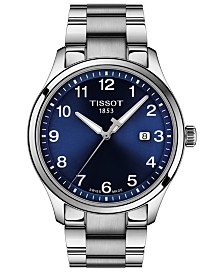 Tissot Men's Swiss Gent XL Stainless Steel Bracelet Watch 42mm