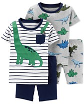 362617efd Carter's Baby Boys 4-Pc. Cotton Dinosaur Pajamas Set