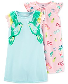 Carter's Toddler Girls 2-Pk. Printed Nightgowns