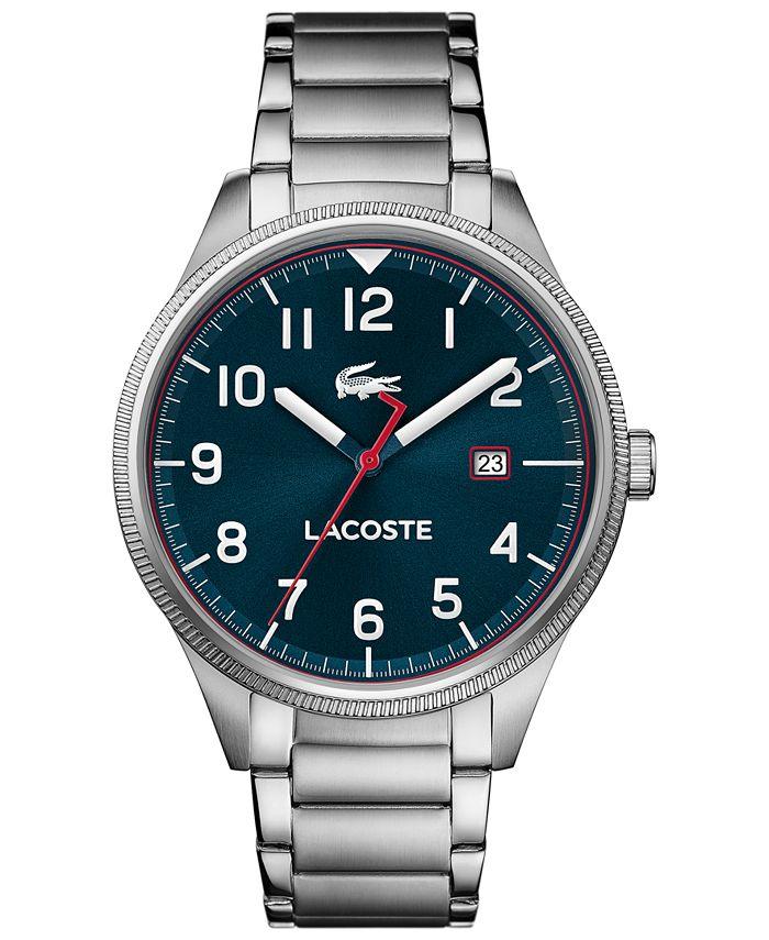 Lacoste - Men's Continental Stainless Steel Bracelet Watch 43mm