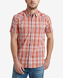 Men's Woven Plaid Shirt