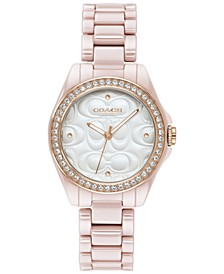 Women's Astor Blush Ceramic Bracelet Watch 28mm