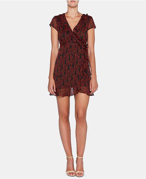Bardot Printed Fit & Flare Wrap Dress
