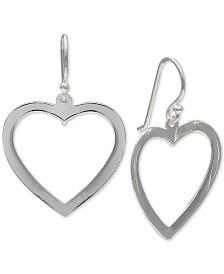 Giani Bernini Openwork Heart Drop Earrings in Sterling Silver, Created for Macy's