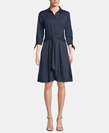 ECI Tie-Front Tie-Cuff Dress