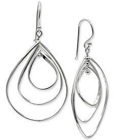 Giani Bernini Triple Teadrop Drop Earrings in Sterling Silver, Created for Macy's
