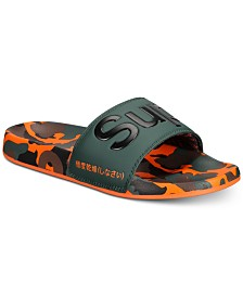 Superdry Men's Allover Print Camouflage Beach Slide Sandals