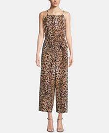 ECI Animal-Print Jumpsuit