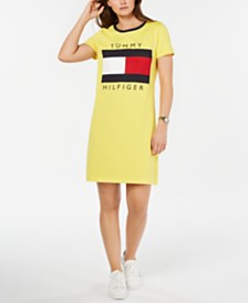 Tommy Hilfiger Logo T-Shirt Dress, Created for Macy's