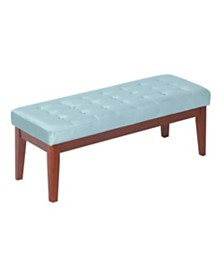 Elle Décor Claire Tufted Upholstered Bench, Quick Ship