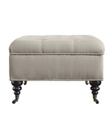 Serta Abbot Square Tufted Ottoman with Storage and Casters, Quick Ship