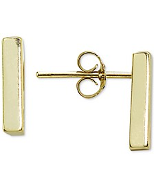 Polished Bar Stud Earrings in 18k Gold-Plated Sterling Silver, Created for Macy's