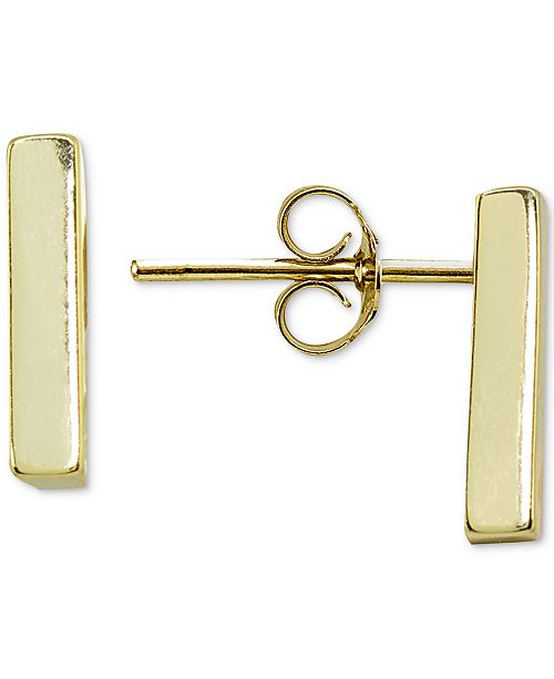 56774e1aadaf76 ... Giani Bernini Polished Bar Stud Earrings in 18k Gold-Plated Sterling  Silver, Created for ...
