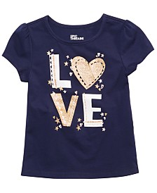 Epic Threads Toddler Girls Love-Print T-Shirt, Created for Macy's