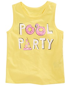 Little Girls Pool Party Graphic Tank Top, Created for Macy's
