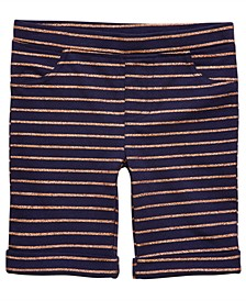 Little Girls Striped Bermuda Shorts, Created for Macy's