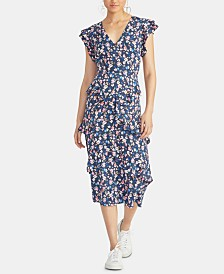 RACHEL Rachel Roy Fabianne Ruffled Midi Dress