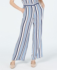 BCX Juniors' Striped Soft Pants