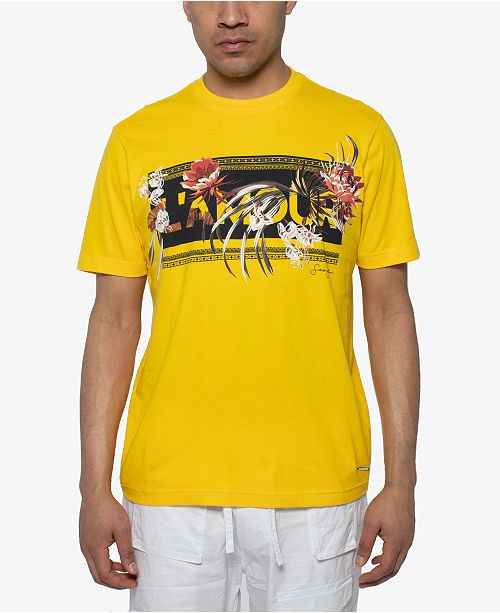 Sean John Men's Lamour Floral Graphic T-Shirt