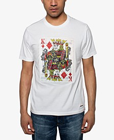 Men's King of Hearts Sequin Graphic T-Shirt