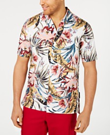 Sean John Men's Floral Resort Shirt