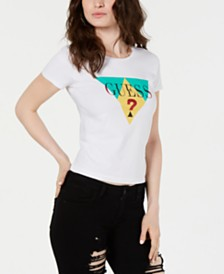 GUESS Cotton Colorblocked-Graphic T-Shirt
