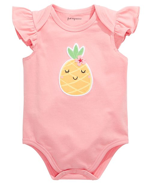 First Impressions First Impression's Baby Girl's Pineapple Bodysuit, Created for Macy's