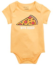 First Impressions Baby Boys or Girls Pizza Graphic Bodysuit, Created for Macy's