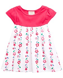 First Impressions Baby Girls Flower Border Tunic, Created for Macy's