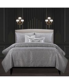 F Scott Fitzgerald Jazz Club Silver Luxury Bedding Set