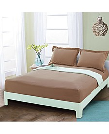 Silky Soft Single Fitted Sheet Full Taupe