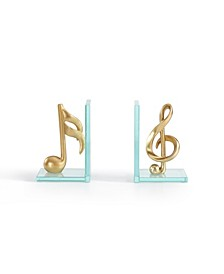 Musical Glass Bookends
