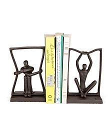 Stretching Boundaries Iron Bookend Set