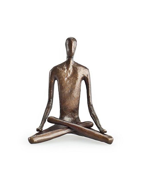 Danya B Yoga Lotus Bonze Sculpture