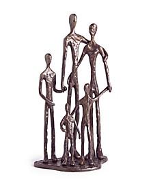 Family of Five Bronze Sculpture