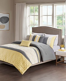 510 Design Donnell King/California King Embroidered 5 Piece Comforter Set