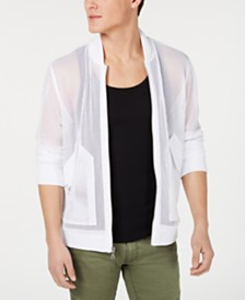 I.N.C. Men's Mesh Bomber Jacket, Created for Macy's
