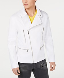 I.N.C. Men's Linen Biker Jacket, Created for Macy's