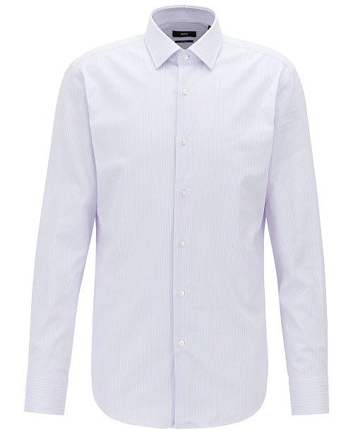b0898d00f Hugo Boss BOSS Men's Jenno Slim-Fit Cotton Shirt & Reviews - Dress ...