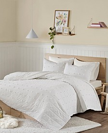 Brooklyn King/California King Cotton Jacquard 3 Piece Coverlet Set